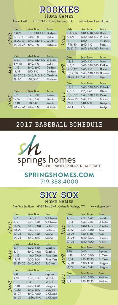 Colorado Baseball Schedule